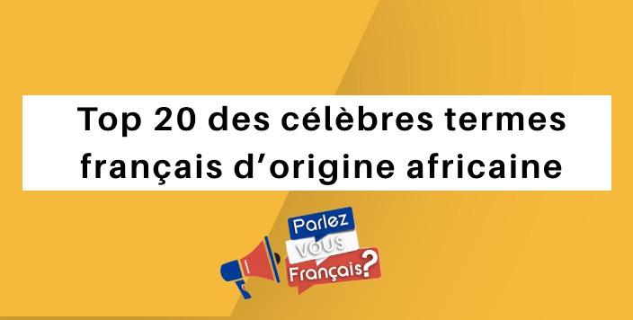 parlez vous francais 20 francais populaire africain