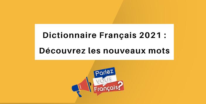 mots francais 2021