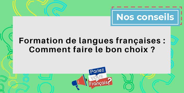 formation langues francaises