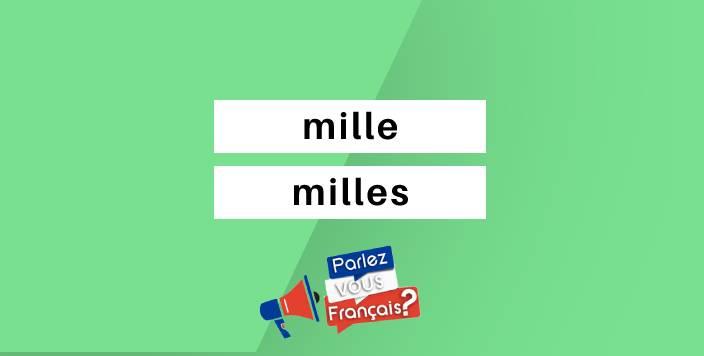 mille ou milles
