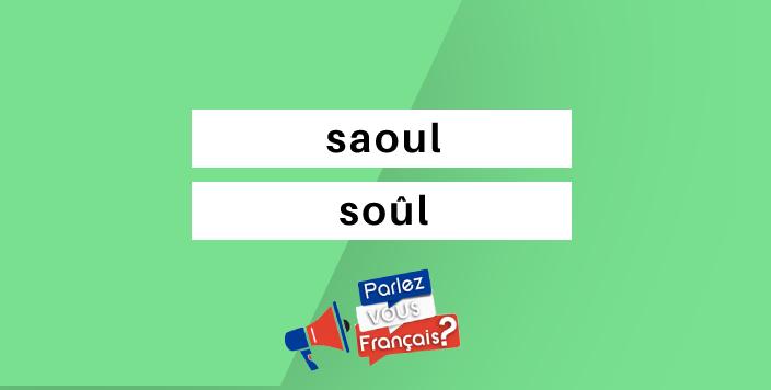 saoul ou soul