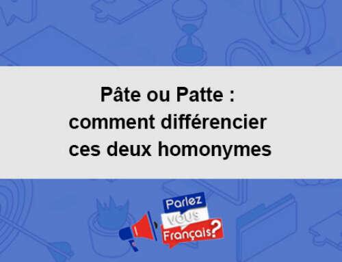 Pâte ou Patte : comment différencier ces deux homonymes